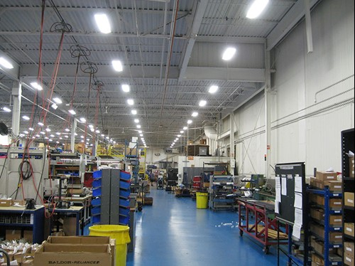 Nook Industries Cleveland, Ohio T5 high bay lighting upgrade project