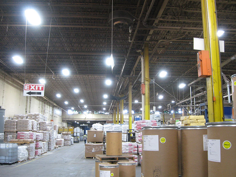 Metal Halide to LED high bay factory lighting retrofit, Cleveland & Akron, Ohio