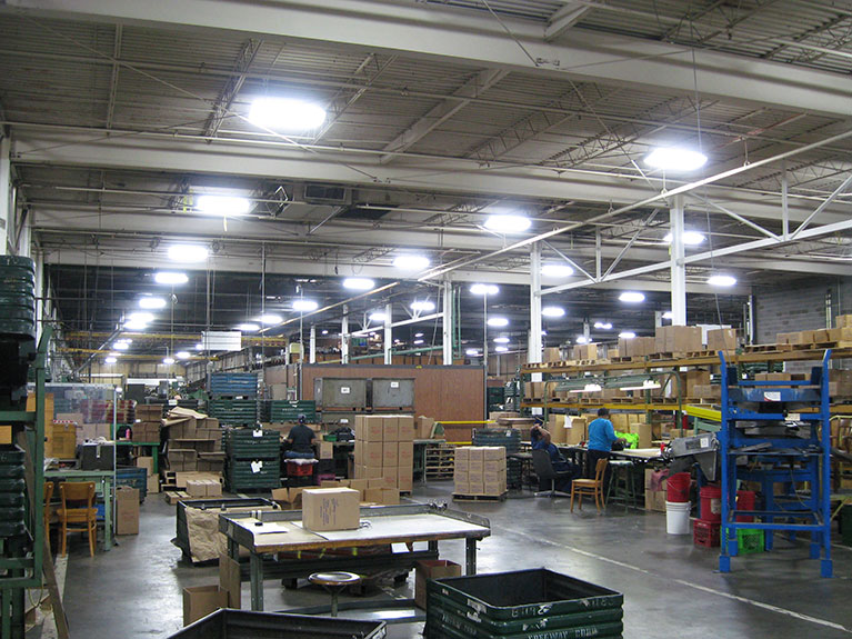 Metal Halide to T5 factory lighting retrofit, Cleveland & Akron, Ohio