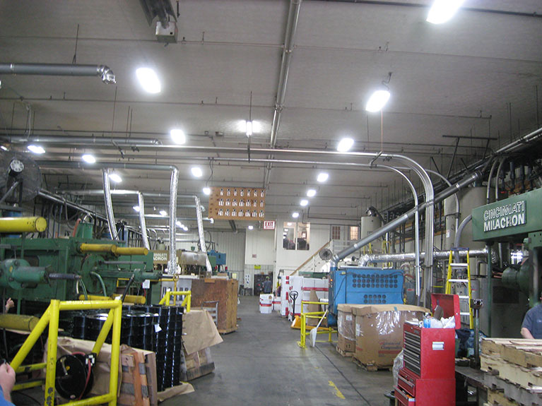 Metal Halide to T5 industrial high bay lighting retrofit, Cleveland & Akron, Ohio