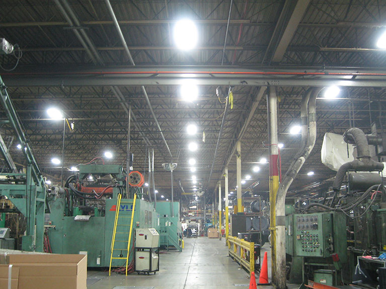 Metal Halide to T5 factory lighting upgrade, Cleveland & Akron, Ohio