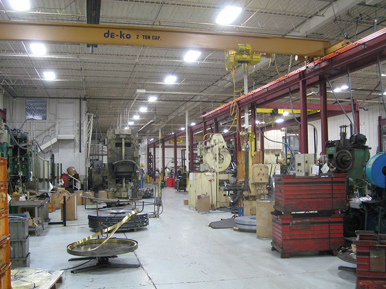 Metal Halide to T5 factory lighting conversion, Cleveland & Akron, Ohio