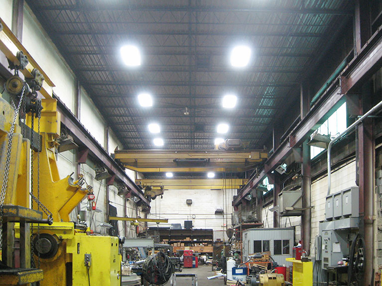Metal Halide to T5 lighting conversion for factory, Cleveland & Akron, Ohio