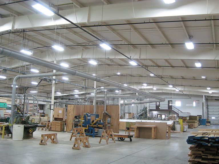 Metal Halide to T5 lighting retrofit project, Cleveland & Akron, Ohio