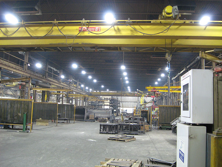 Metal Halide to T5 industrial lighting conversion, Cleveland & Akron, Ohio