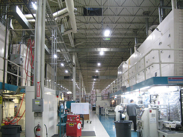 Metal Halide to T5 industrial lighting retrofit, Cleveland & Akron, Ohio