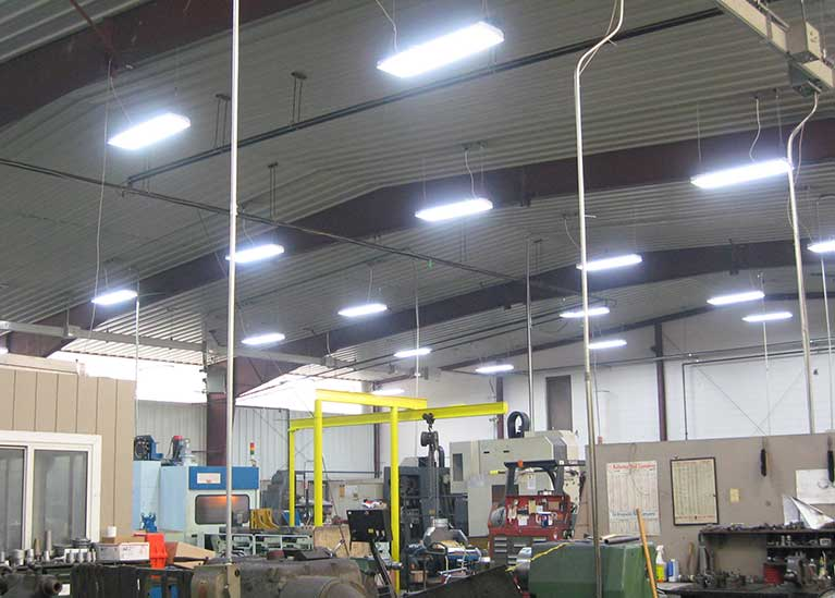 Metal Halide to T8 factory lighting upgrade, Cleveland & Akron, Ohio