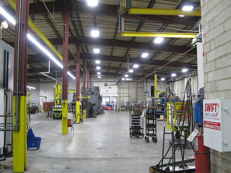 Metal Halide to T8 industrial lighting retrofit, Cleveland & Akron, Ohio