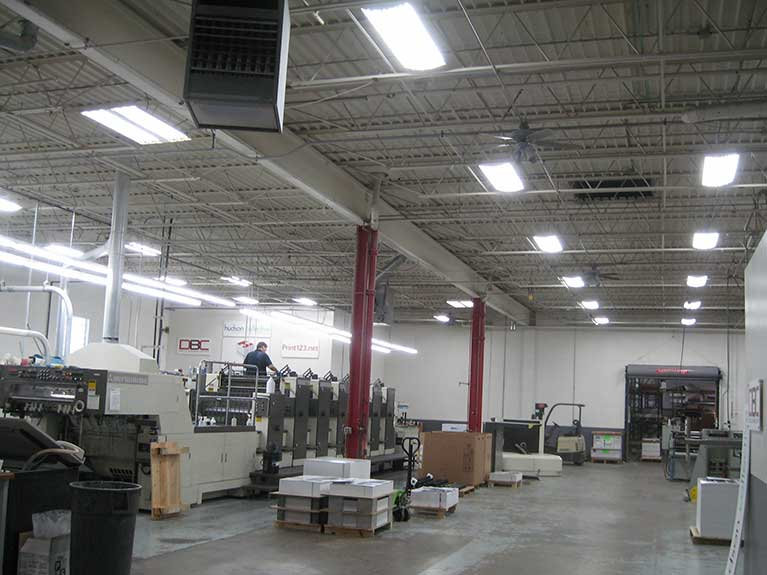 Metal Halide to T8 lighting retrofit, Cleveland & Akron, Ohio