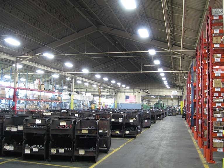 Metal Halide to T8 industrial high bay lighting retrofit, Cleveland & Akron, Ohio