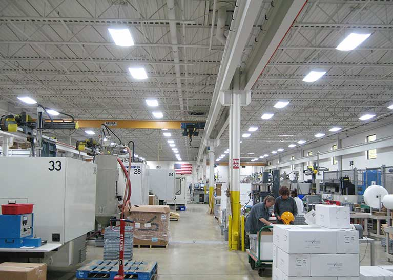 Metal Halide to T5 Manufacturing lighting retrofit, Cleveland & Akron, Ohio
