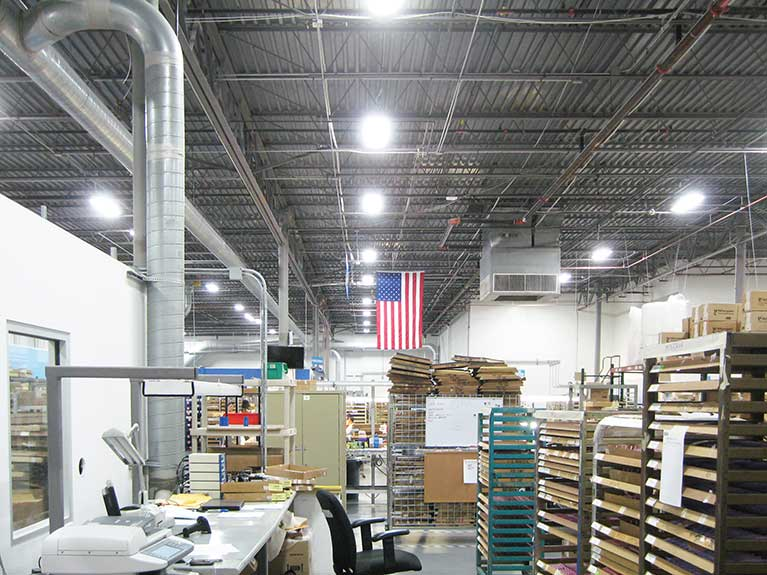 Metal Halide to T5 manufacturing lighting conversion, Cleveland & Akron, Ohio