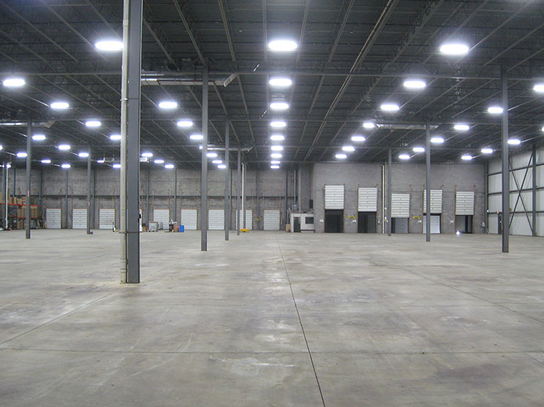 """Warehouse converted from Metal halide to 6 lamp T5HO fixtures, Cleveland & Akron, Ohio"""