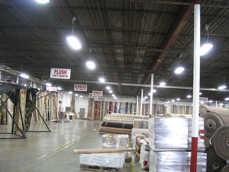 """Warehouse lighting improvement project T8 high bays, Cleveland & Akron, Ohio"""