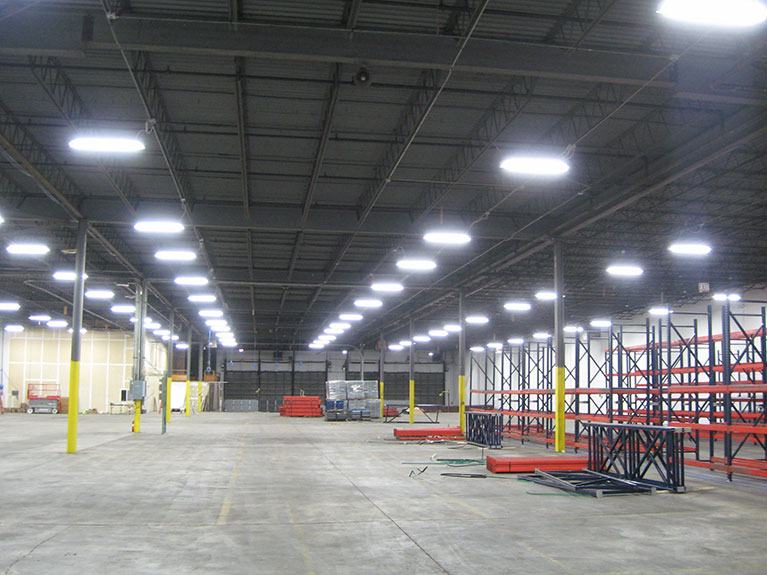 """Warehouse high bay lighting upgrade using T5's, Cleveland & Akron, Ohio"""