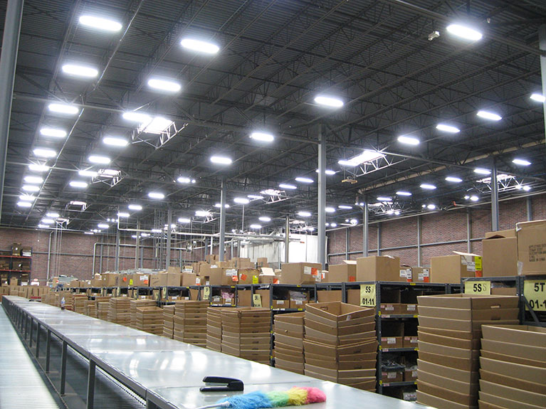 Lighting upgrade using T5 high bay fixtures, Cleveland & Akron, Ohio